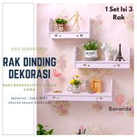 RAK DINDING GANTUNG [1 SET ISI 3 PCS] RAK SERBAGUNA VINTAGE - A860