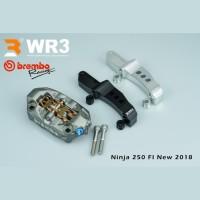 Paket Kaliper Brembo M4 P32 100mm + Breket WR3 Ninja 250 FI NEW 2018