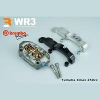 Paket Kaliper Brembo M4 P32 100mm + Breket WR3 Yamaha Xmax 250cc 300cc
