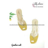 VITROF - Rumput sepatu big / chunky heels jepit wanita real pict