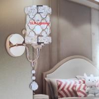 Lampu dinding kristal kamar tidur 866-1 dekorasi gold