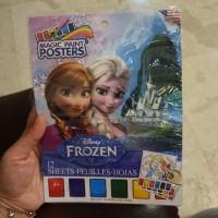 buku mewarnai disney frozen magic paint poster / buku mewarnai frozen