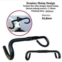Handlebar Stang Sepeda Balap Fixie Alloy Zoom Oversize