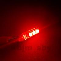 T10 Crystal/ Kristal Jelly 6 Mata Led 5730 Lampu Senja Sen Speedometer - Merah