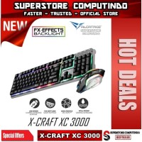 Alcatroz X-Craft XC-3000 Spill Proof Gaming Keyboard + Mouse Combo