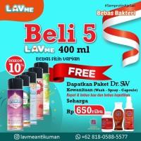 Lavme Anti Bacterial Spray 400ml 5pcs - Free Dr.SW Seharga 650ribu