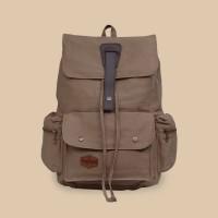 Tas Ransel Backpack Laptop Kanvas Pria Wanita - Divinces Impact