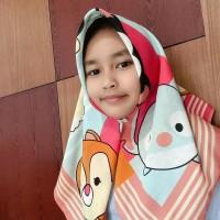 Terlaris! Jilbab Anak Motif Lucu Segiempat, Motif Printing Hijab Voal