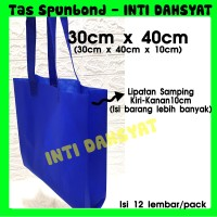 Tas Spunbond Non Wooven Goodie Bag Handle 30x40+10 (isi 12lembar) HLS