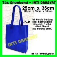 Tas Spunbond Non Wooven Goodie Bag Handle 25x35+10 (isi 12lembar) HLS