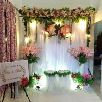 sewa paket dekorasi backdrop akadnikah/wedding/lamaran