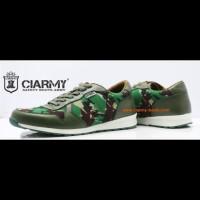 Sepatu sport loreng TNI AD malvanas-sepatu sneakers-ciarmy SL02 hijau