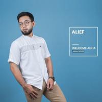 ALIEF Fadkhera Baju Koko Putih Modern GARANSI FDKHR Kemeja Muslim Pria