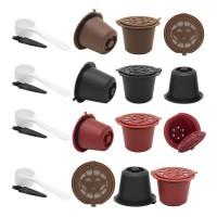 3Pcs Kapsul Kopi Kapsul Nespresso Reusable Dengan Filter Plastik -DA54