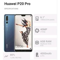 HUAWEI P20 PRO 256GB - NEW - ORIGINAL - INTERNATIONAL -BNIB