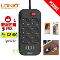 Original LDNIO Power Socket 6 Port USB 4 Port Stop Kontak