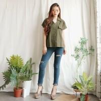 Blouse Kemeja Wanita Baju Atasan Wanita JOANA TOP Bahan Linen Premium