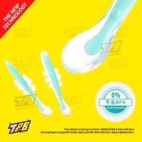 Sendok makan bayi baby safety spoon silikon sens panas Lentur feeding