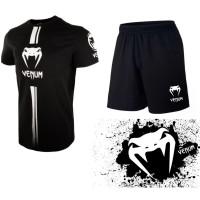 2++ KAOS VENUM + CELANA SPORT baju training gym boxing running pria