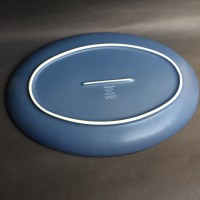 PIRING SAJI OVAL BESAR BIRU NRTK, D.40-28cm H.3.8cm | BIG Oval Plate