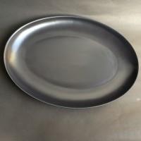 PIRING SAJI OVAL BESAR HITAM, D.40-28cm H.3.8cm | BIG Oval Plate