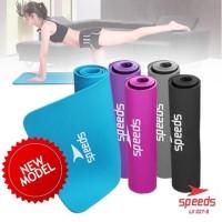 Matras yoga mat karpet spons tikar speeds NBR 183/61cm 10mm +tas - Hitam
