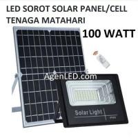 LED SOROT 100W SOLAR CELL PANEL SURYA FLOODLIGHT Lampu tembak 100 watt