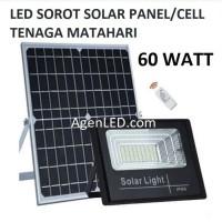 LED SOROT 60W SOLAR CELL PANEL SURYA FLOODLIGHT Lampu tembak 60 w watt