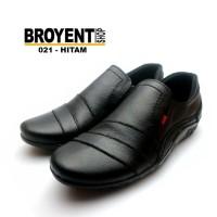 Sepatu Casual Santai Semi Pantofel Pria slip-on Kulit Sapi 021