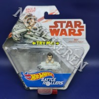 Hot Wheels Battle Rollers Star Wars Rey Millennium Falcon White