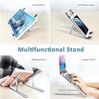 Laptop stand Portable Dudukan Laptop Aluminium Holder Laptop Lipat