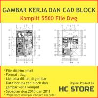 Gambar Kerja Arsitek Sipil - KOMPLIT ( bonus CAD BLOCK )