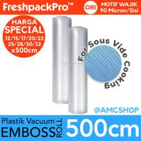 FreshpackPro 5 Meter Plastik Vacum Vacuum Sealer Packing Roll Embossed - 12x500CM