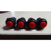 Push On Off Toggle Button Switch Saklar Tombol Bulat Warna 2 Kaki/Pin