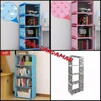 (1kg) rak buku 1sisi rak serbaguna tempat penyimpanan buku multifungsi