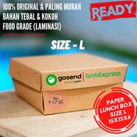 Kraft Paper Lunch Box Polos Size L 15cmx15cmx6cm / Kotak Makan Polos