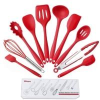 Silicone Kitchen Utensil 10 in 1 Set Peralatan Dapur Spatula BPA Free
