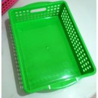 Keranjang Plastik Serbaguna Tempat Surat Kertas Amplop Persegi No.2