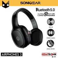 Headphones Sonicgear Airphone 3 Bluetooth 5.0 with Mic Long 8 Hours