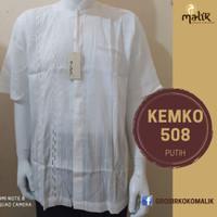 Baju Muslim Pria Putih Lengan Pendek OB508 Kemeja Koko Cowo Modern