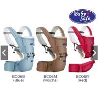 Baby Safe BC06 Baby Hip Seat NB to Toddler Gendongan Bayi - mocha