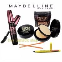 Paket Makeup kumplit Maybelline 4in1