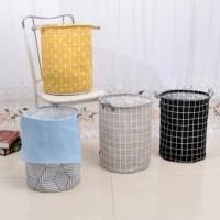 Kantong Keranjang Baju Kotor Motif Anti Air Pakaian Lipat Laundry Bag