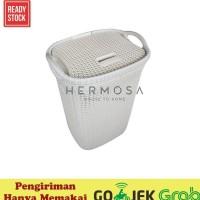 Keranjang / Basket Laundry Baju Cucian Motif Anyaman Olymplast Olb -