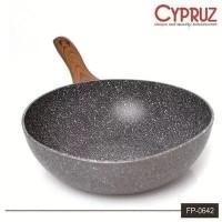 CYPRUZ FP0642 FRYWOK PENGGORENGAN MARBLE WAJAN KUALI INDUKSI 26CM