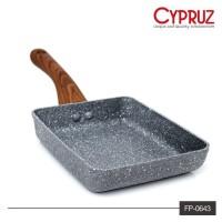 CYPRUZ FP0643 FRYPAN MARBEL OMELETTE PAN MARBEL WAJAN TELUR 13x18CM