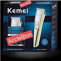 Clipper Kemei KM-842 Alat Mesin Cukur Rambut,Kumis,Jenggot Sistem Cas