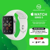 Apple Watch Series 5 44mm Aluminium Silver with White Sport Band