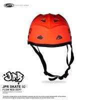 JPR SKATE 02 - FLUORESCENT RED DOFF/BLACK