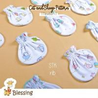 Blessing babywear-sarung tangan baby-SZ newborn-mix motif-diskon max